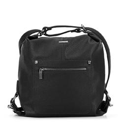 Women's hobo bag, black, 91-4Y-615-1, Photo 1