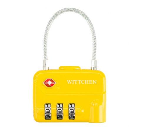 Kłódka szyfrowa, żółty, 56-30-024-30, Zdjęcie 1