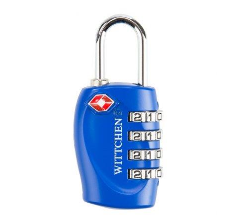 Kłódka szyfrowa, niebieski, 56-30-023-90, Zdjęcie 1