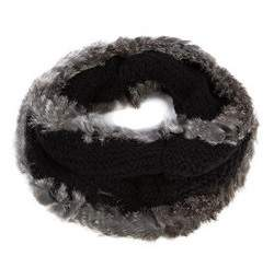 Komin damski, czarno - szary, 81-7F-002-1, Zdjęcie 1