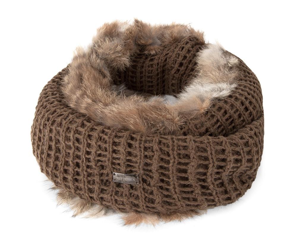 Шарф-комин женскийШарф-снуд сделан из высококачественного материала с отделкой из натурального кроличьего меха. Длина снуда позволяет разнообразно его укладывать . Теплый и приятный на ощупь снуд , будет прекрасным элементом Вашего образа в холодные дни.<br><br>секс: женщина<br>Цвет: коричневый<br>материал:: Акрил<br>высота (см):: 20