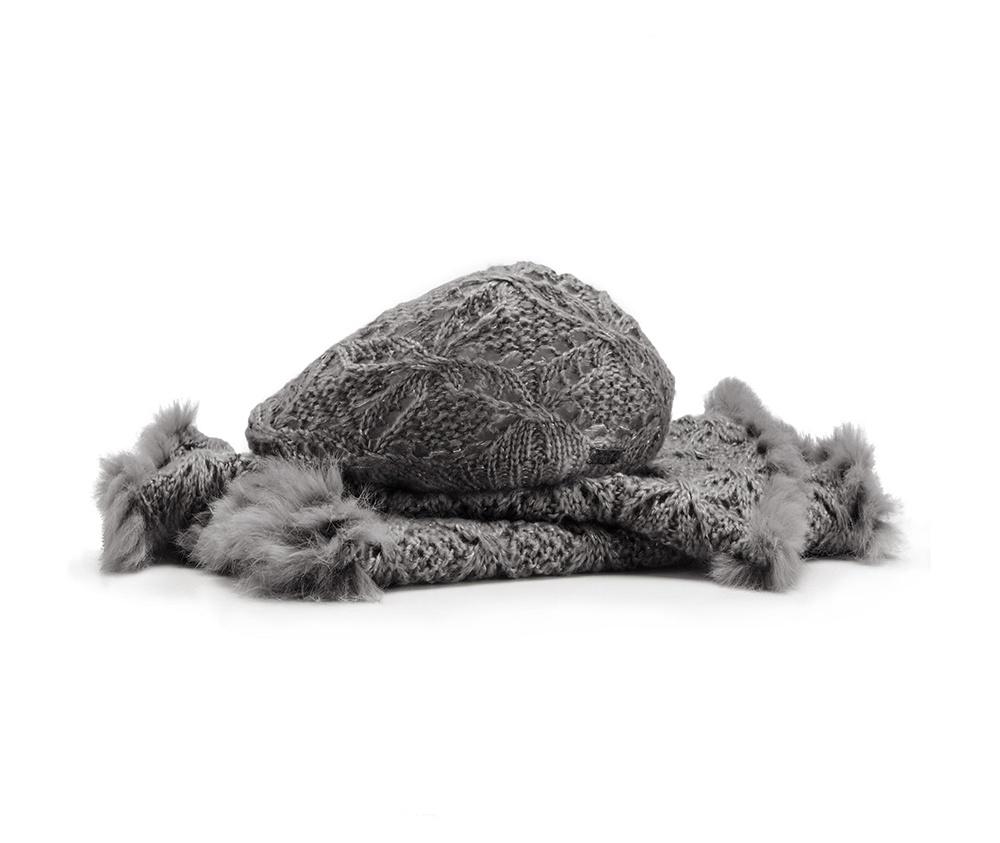 Комплект шапка + шарфКомплект шапка + шарф<br><br>секс: женщина<br>Цвет: серый<br>материал:: Акрил<br>ширина (см):: 45