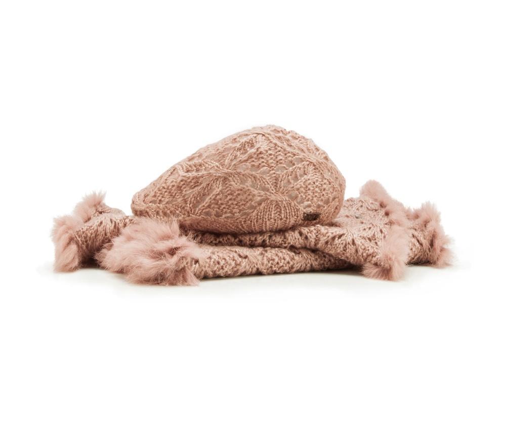 Комплект шапка + шарфКомплект шапка + шарф<br><br>секс: женщина<br>Цвет: розовый<br>материал:: Акрил<br>ширина (см):: 45