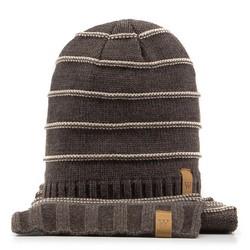Komplet czapka + szalik, Brązowy, 89-SF-200-4, Zdjęcie 1