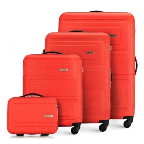 Zestaw walizek, pomarańczowy, 56-3A-63K-90, Zdjęcie 1