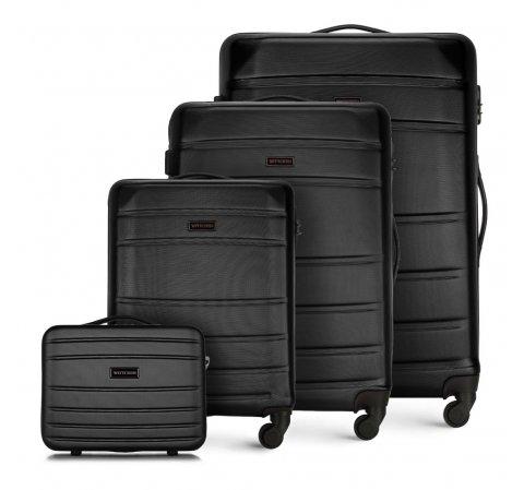 Zestaw walizek, czarny, 56-3A-65K-90, Zdjęcie 1