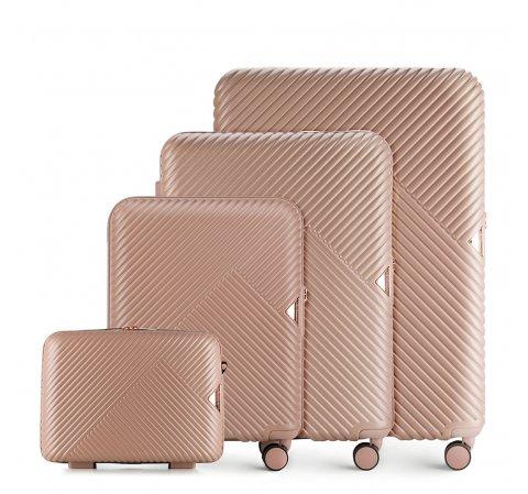 Zestaw walizek, pudrowy róż, 56-3P-84K-88, Zdjęcie 1