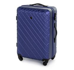 zestaw walizek z ABS-u z deseniem, granatowy, 56-3A-55K-91, Zdjęcie 1