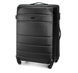 Zestaw walizek z ABS-u tłoczonych, czarny, 56-3A-65K-10, Zdjęcie 1