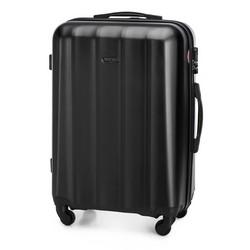 Zestaw walizek z polikarbonu z teksturą, czarny, 56-3P-11K-10, Zdjęcie 1