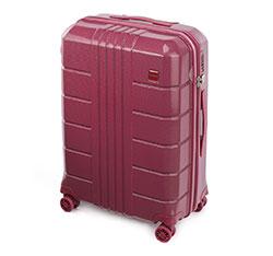 Zestaw walizek z polikarbonu żłobionych, zgaszony czerwony, 56-3P-82K-35, Zdjęcie 1