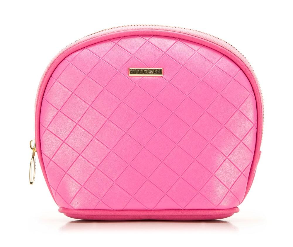 Косметичка Wittchen 85-3-109-P, розовыйКосметичка<br><br>секс: женщина<br>Цвет: розовый<br>материал:: Экокожа<br>высота (см):: 15<br>ширина (см):: 15 - 19<br>глубина (см):: 7