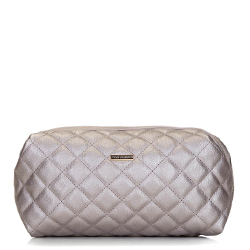 Quilted toiletry bag, grey, 92-3-102-G, Photo 1