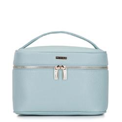 Damska kosmetyczka kuferek duża, błękitny, 92-3-106-N, Zdjęcie 1