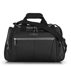 Travel bag, black-grey, V25-3S-236-01, Photo 1