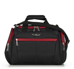 Travel bag, black-red, V25-3S-236-15, Photo 1