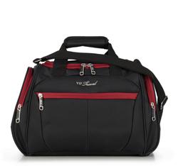 torba podróżna, czarno - czerwony, V25-3S-236-15, Zdjęcie 1
