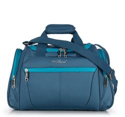 Średnia miękka torba podróżna dwukolorowa, niebieski, V25-3S-236-95, Zdjęcie 1