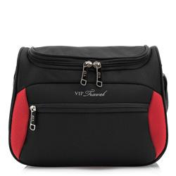 Toiletry bag, black-red, V25-3S-235-13, Photo 1