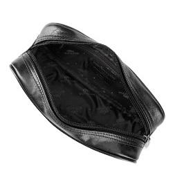 Kosmetyczka skórzana podłużna, czarny, 21-3-002-1, Zdjęcie 1