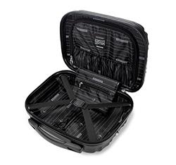 Kosmetyczka podróżna z ABS-u z żebrowaniem, czarny, 56-3A-314-11, Zdjęcie 1