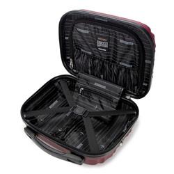 Kosmetyczka podróżna z ABS-u z żebrowaniem, bordowy, 56-3A-314-30, Zdjęcie 1
