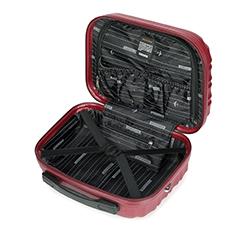 Kosmetyczka podróżna z ABS-u z żebrowaniem, bordowy, 56-3A-314-31, Zdjęcie 1