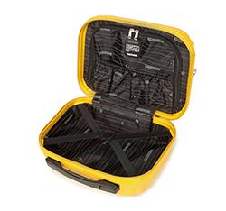 Kosmetyczka podróżna z ABS-u z żebrowaniem, żółty, 56-3A-314-50, Zdjęcie 1