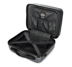 Kosmetyczka podróżna z ABS-u żłobiona, szary, 56-3A-654-01, Zdjęcie 1