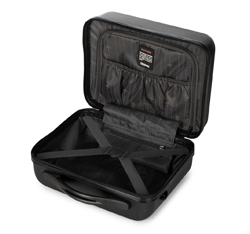 Kosmetyczka podróżna z ABS-u żłobiona, czarny, 56-3A-654-10, Zdjęcie 1