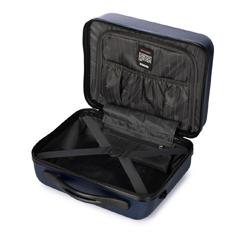 Kosmetyczka podróżna z ABS-u żłobiona, granatowy, 56-3A-654-90, Zdjęcie 1