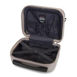 Kosmetyczka podróżna z polikarbonu z teksturą, szampański, 56-3P-114-86, Zdjęcie 1