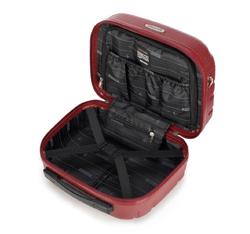 Kosmetyczka podróżna z polikarbonu tłoczona, czerwony, 56-3P-984-31, Zdjęcie 1