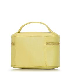 Damska kosmetyczka kuferek mała, żółty, 92-3-107-Y, Zdjęcie 1