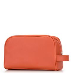 Damska kosmetyczka z bocznym uchwytem, pomarańczowy, 92-3P-507-6, Zdjęcie 1