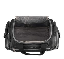 Mała miękka torba podróżna dwukolorowa, czarno - szary, V25-3S-236-01, Zdjęcie 1