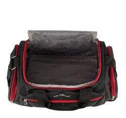 Mała miękka torba podróżna dwukolorowa, czarno - czerwony, V25-3S-236-15, Zdjęcie 1