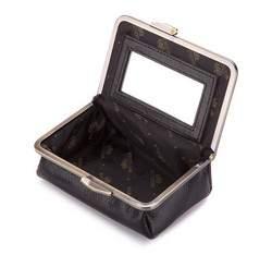 Kosmetyczka skórzana na bigiel, czarny, 21-3-170-1, Zdjęcie 1
