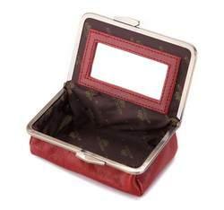 Kosmetyczka skórzana na bigiel, czerwony, 21-3-170-3, Zdjęcie 1