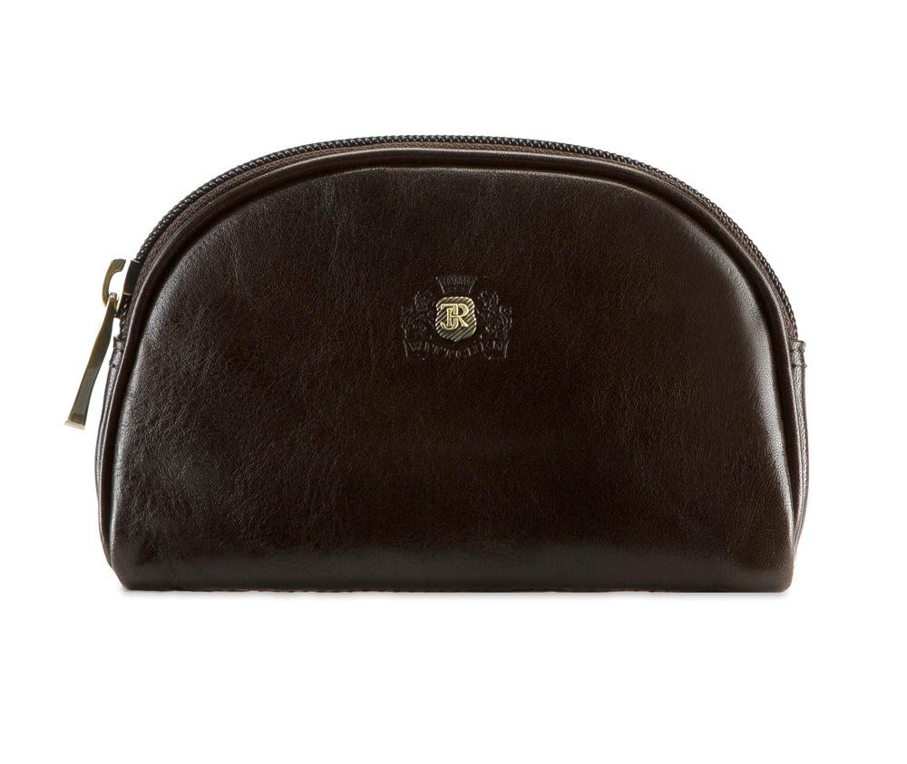 КосметичкаОтделение на молнии, внутренний карман на молнии.&#13;<br>Размеры: 160 x 105 x 35 мм<br><br>секс: женщина<br>Цвет: коричневый<br>материал:: натуральная кожа