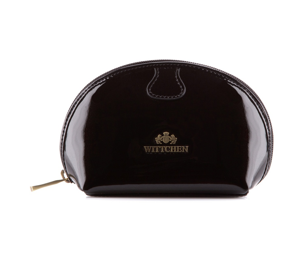 КосметичкаКосметичка из коллекции Verona. Изготовлена из лакированной телячьей кожи высочайшего качества. Логотип- металлический значок с гербом WITTCHEN цвета старого золота.&#13;<br>&#13;<br>Внутри:&#13;<br>&#13;<br>    отделение на молнии&#13;<br>    карман на молнии.<br><br>секс: женщина<br>Цвет: черный<br>материал:: лакированная кожа<br>высота (см):: 12<br>ширина (см):: 17<br>глубина (см):: 7