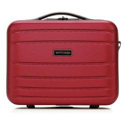 Kosmetyczka podróżna z ABS-u żłobiona, czerwony, 56-3A-654-35, Zdjęcie 1