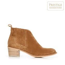 Suede cowboy ankle boots, camel, 92-D-153-5-36, Photo 1
