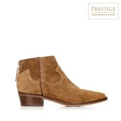 Suede cowboy ankle boots, camel, 92-D-156-5-41, Photo 1
