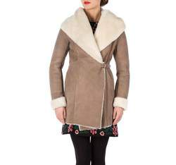 Women's fur, light brown, 81-9S-506-5-XL, Photo 1