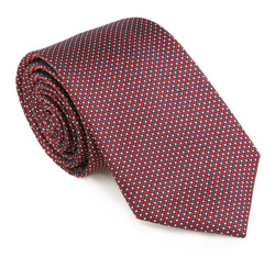Krawat, bordowy, 85-7K-001-X1, Zdjęcie 1