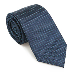 Krawat, granatowy, 85-7K-003-X1, Zdjęcie 1
