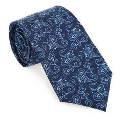 Tie, navy blue, 85-7K-004-N, Photo 1