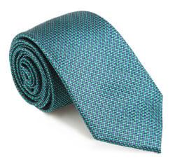 Krawat, granatowo - zielony, 85-7K-005-Z, Zdjęcie 1