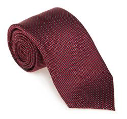 Krawat, bordowy, 85-7K-006-2, Zdjęcie 1